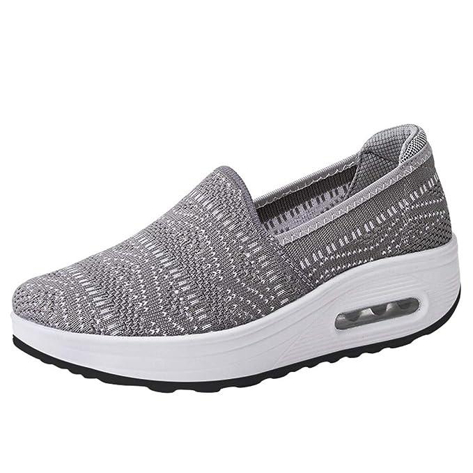 Jorich Zapatos Fondo Grueso Zapatos Casuales Zapatillas Respirable ...