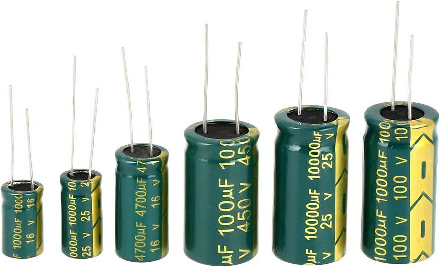 Elektrolyt Kondensatoren 100uf 10000uf 16 450v Radialkondensator Grün 4 Type 450v 100uf 10 Stk Gewerbe Industrie Wissenschaft
