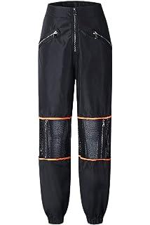 93543ddc36e Sevozimda La Mujer Casual Pantalones Cargo De Malla con Cremallera Longitud  Completa Stich Jogger Pant Pantalón