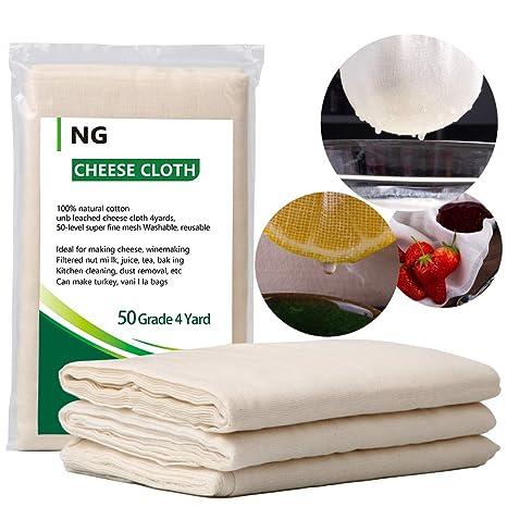Amazon.com: Paño de cocina sin blanquear para queso, ideal ...