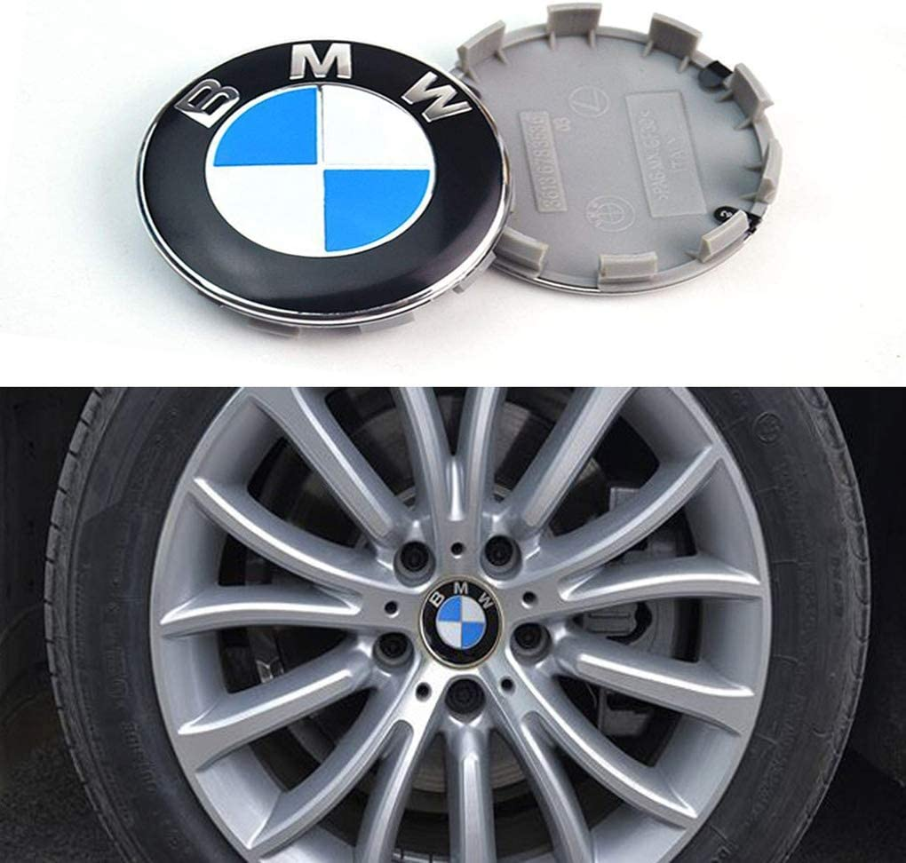Rim Center Hub Caps for All Models with BMW Wheels Logo DIY1234 4PCS 68mm//2.68inch Wheel Center Caps Emblem for BMW
