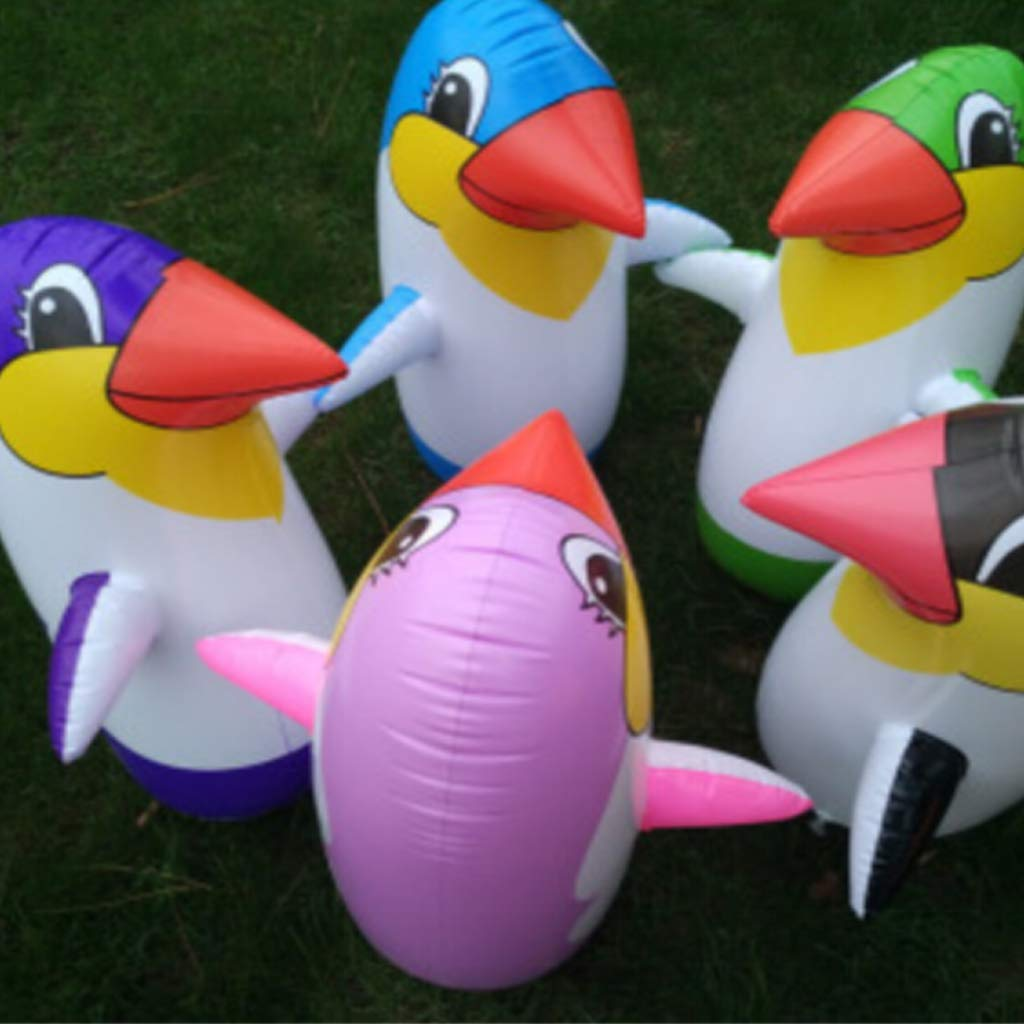 ZJL220 Inflable Pingüino Tumbler Juguete Niños Inflables Animal Globo Suministros 45 Color al Azar