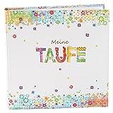 Goldbuch 24374 Taufalbum Flower Power, 60 Seiten mit Pergamin, circa 25 x 25 cm