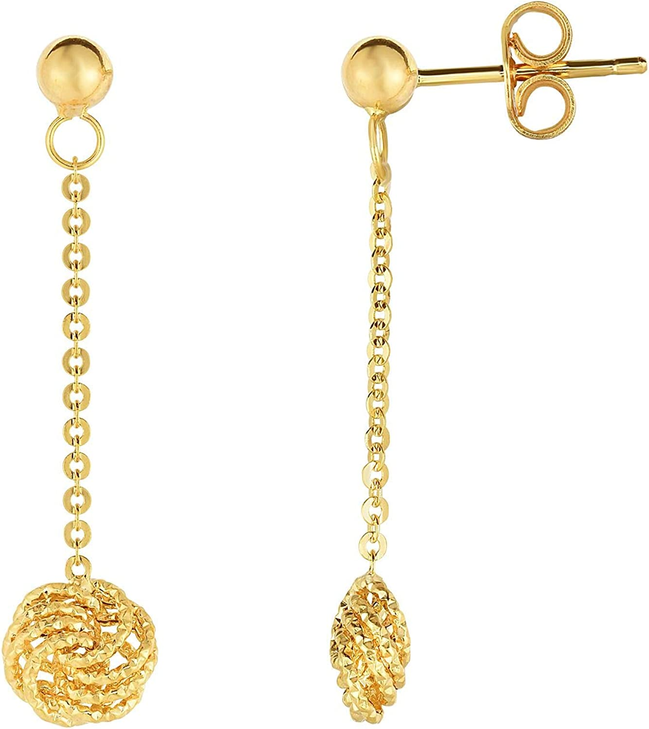 14K Yellow Gold Exquisite Earrings by IcedTime