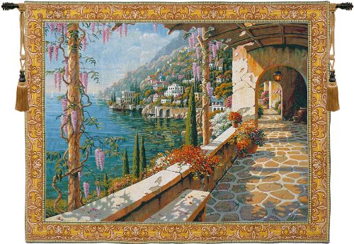 Villa In Capri Belgian Tapestry Wall Hanging for sale  Delivered anywhere in USA