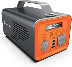 NOVOO Portable Power Station 200W, 230Wh Solar Generator, Emergency Backup Lithium Battery, 110V/ 200W (300W Peak) AC Outlet Backup Battery Power Supply, 12V DC Power Station for Outdoor Camping