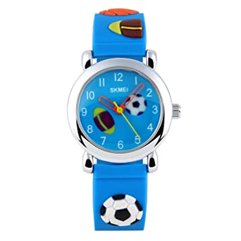 Kids Analog Quartz Watch,Boys Girl Time Teacher Watches with PU Band Children 30M Waterproof