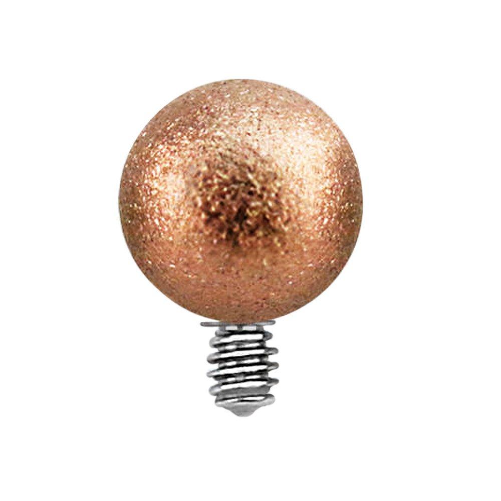 Piercing Ersatzkugel Rosegold Ausfatz Hufeisen Schraubkugel Kristall Titan 1,2Mm