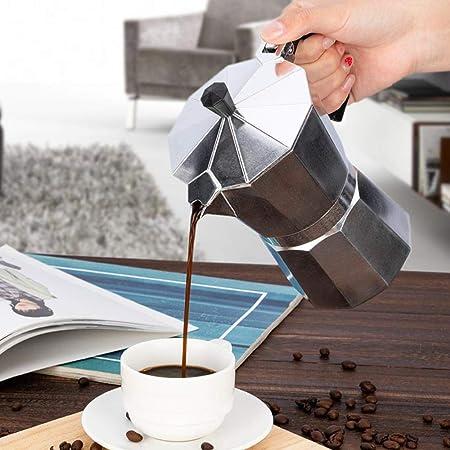 Homie Cafetera Moka Pot de Aluminio Cafetera Italiana Espresso con Filtro Cafeteira Expresso Percolator 3cup / 6cup, 50ml: Amazon.es: Hogar