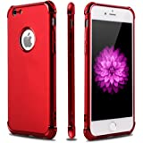 iPhone 6S 6 Case,Casegory 3 in 1 Ultra Thin Slim Fit Reinforced Corner Soft Silicone TPU Shockproof Protective Bumper iPhone 6 6S Phone Case (4.7 Inch) -Shiny Red