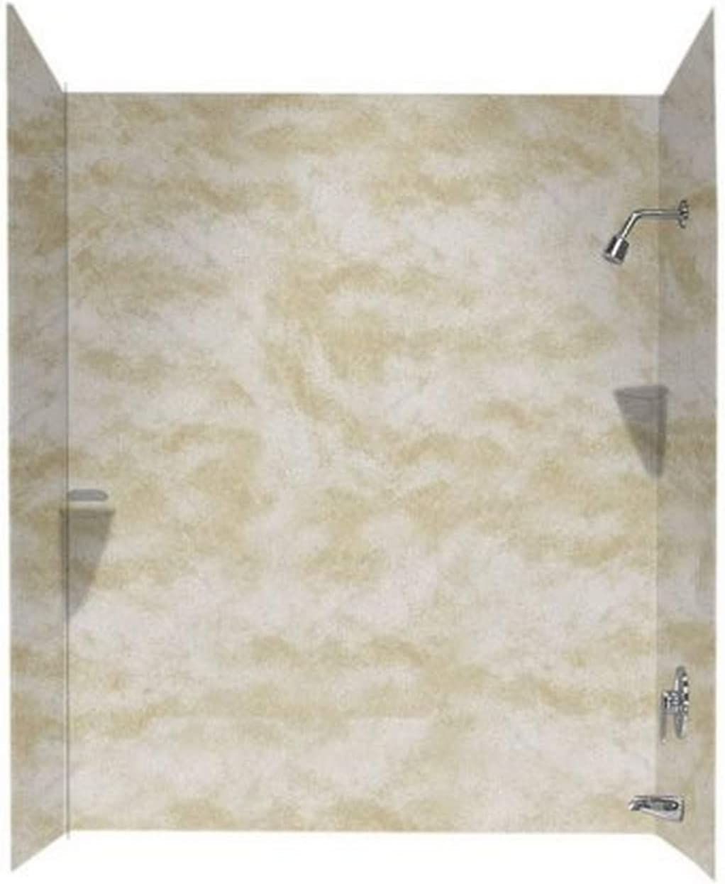Tahiti Matrix 30-in L X 60-in H X 72-in H Swanstone SS00723.058 Solid Surface Glue-Up 3 Panel Bathtub Wall Kit