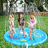 Splash Water Play Mat,YAVOCOS Sprinkle and Splash Play Mat Toy for Outdoor Swimming