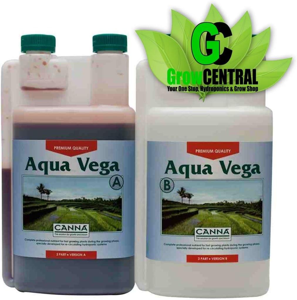 Abono para Cultivo de Canna Aqua Vega A+B (2x1L): Amazon.es: Jardín