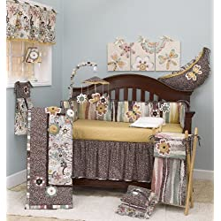 Cotton Tale Designs Penny Lane Flower for girls Crib Bedding Set, 8 Piece