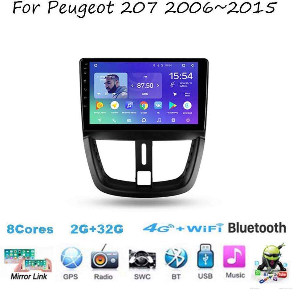 Radio estéreo de Auto Doble DIN Coche para Peugeot 207 2006~2015 Unidad GPS Jefe de Navegación 9 Receptor Multimedia Digital Pulgadas Reproductor de vídeo carplay DSP RDS: Amazon.es: Coche y moto