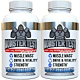 Angry Supplements Monster Test Testosterone Booster - 5452 mg Tribulus, Cranks T-Levels Naturally Formulated in the USA - Gain Muscle Mass, Boost Energy in the Gym, Last Longer in the Bedroom (2-Pack)