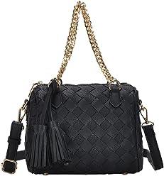 Madison West Sara Satchel Bag: Black BGW-8685