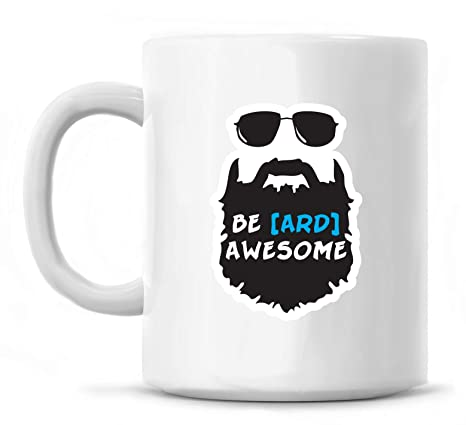 Amazon.com | Be-ard Awesome - 12 ounce Coffee Mug - Great ...