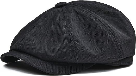 Unisex Mens Wool Bakerboy Winter Flat Cap Newsboy Cabbie Gatsby Driver Hats Gray
