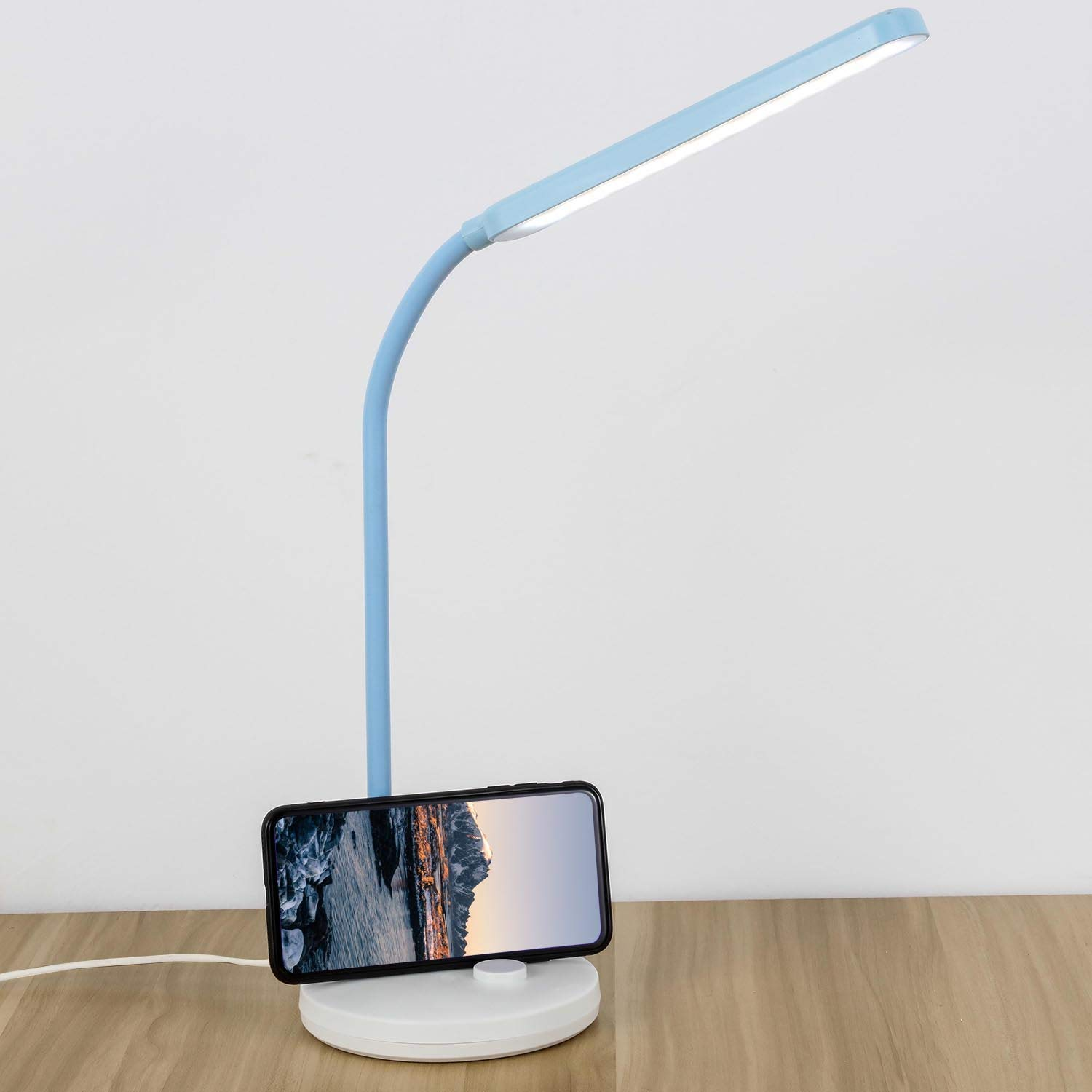 COOLOUS LED Table Lamp Touch Control Dimmable Desk Lamp 5W Multi-Function Adjustable Touch Switch Eye-Care with 3 Mode Brightness Levels