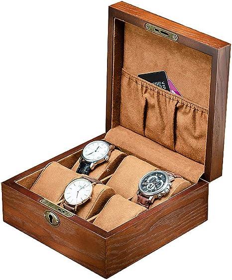 Caja para Relojes de Pulsera, Caja de Almacenamiento para 6 ...