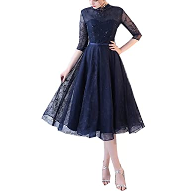 Liliesdresses Womens Prom Dress 2018 Shor Dresses Lace Beaded Cocktail Dress Formal Dress Bridal Gowns-