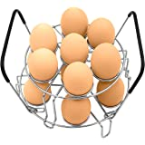 Stackable Egg Steamer Rack, BiaoGan Egg Cooking Rack with Heat Resistant Silicone Handles Compatible for Instant Pot Accessor