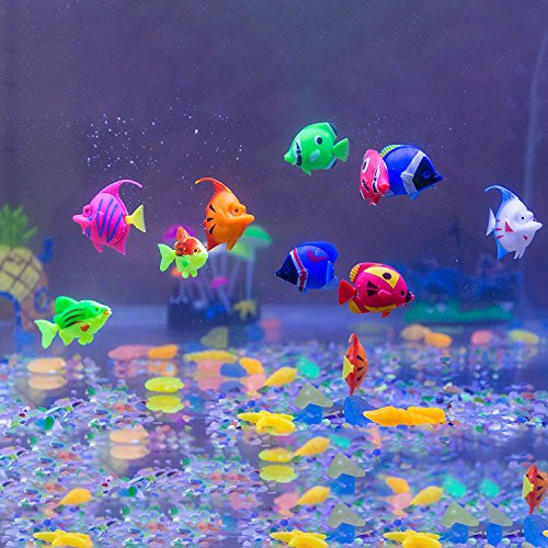 amazoncom aquarium decorations govine 12pcs plastic artificial fish for aquarium fish tank random color and pattern pet supplies - Christmas Fish Tank Decorations