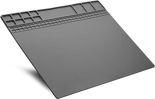 Mat Repair Heat Resistant 932 Soldering Mat Silicone Work Mat For Repairing Electronics Mat Workbench Pad Board for Soldering for Repairing Work,BGA Repair Station Grey