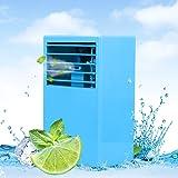 LUCKSTAR Desktop Air Conditioning Fan - Quiet Personal Mini Fan Air Cooler for R