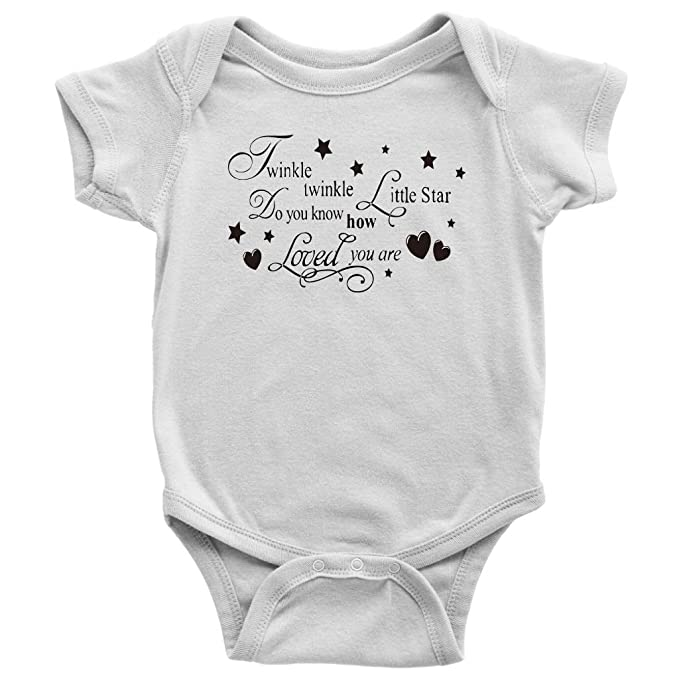 55bd69a5 Gold Baby Bodysuit - Newborn Baby Gift - Twinkle Twinkle Little Star (New  Born)