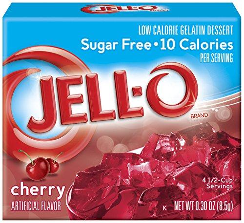 JELL-O Cherry Sugar Free Gelatin Dessert Mix (0.30 oz Boxes, Pack of 6) ()
