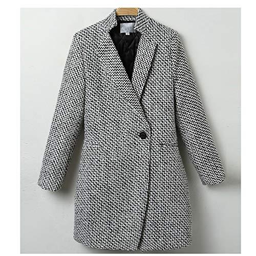 Madras Sport Coat (Women Formal Jackets Work Office Lady Long Sleeve Suit Blazer Outerwear Plus Size)
