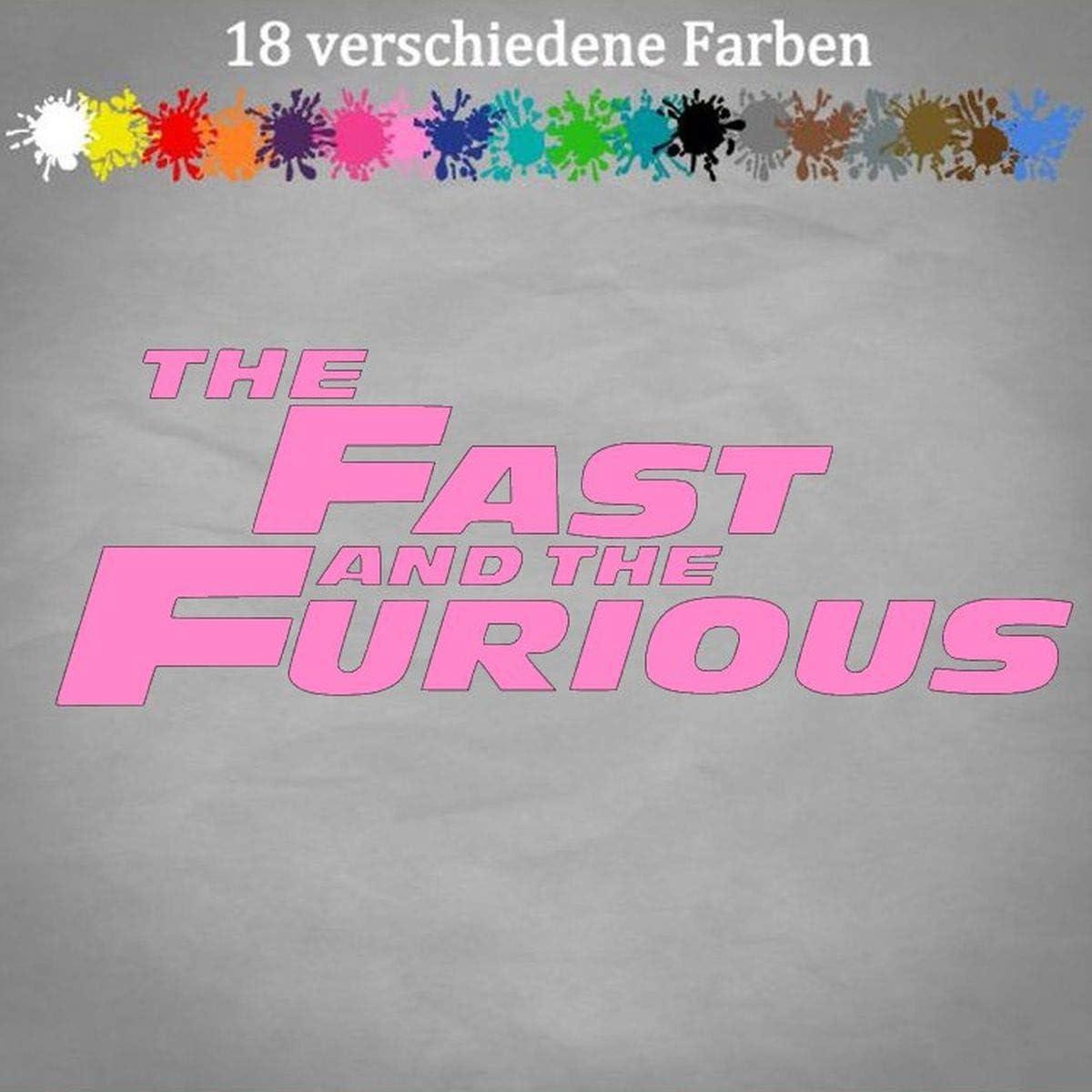 20 x 7 cm Generic Fast and Furious Pegatina para port/átiles dise/ño de Paul Walker