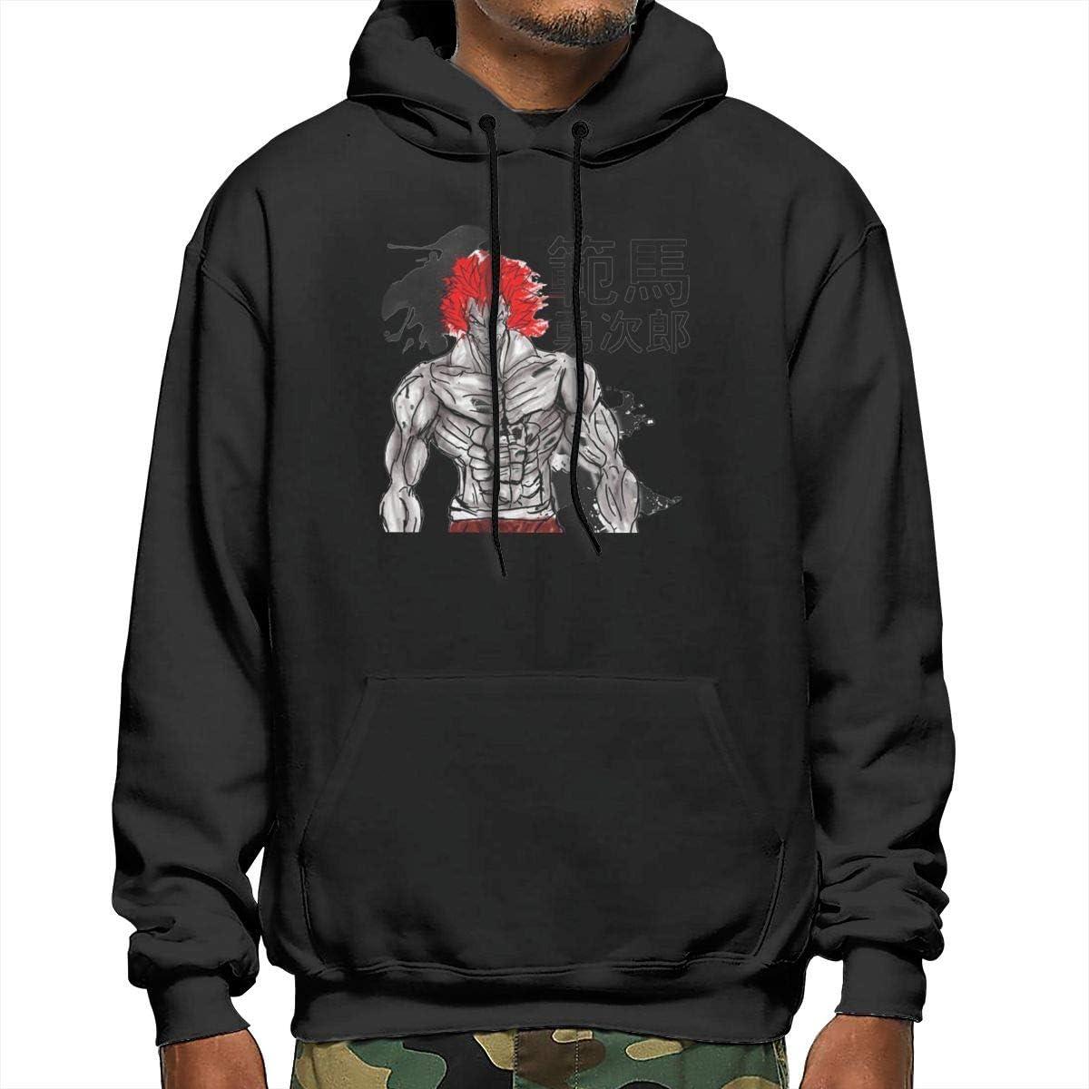 CRK008 Anime Grappler Baki Baki Hanma Mens Sweater Hoody Pullover