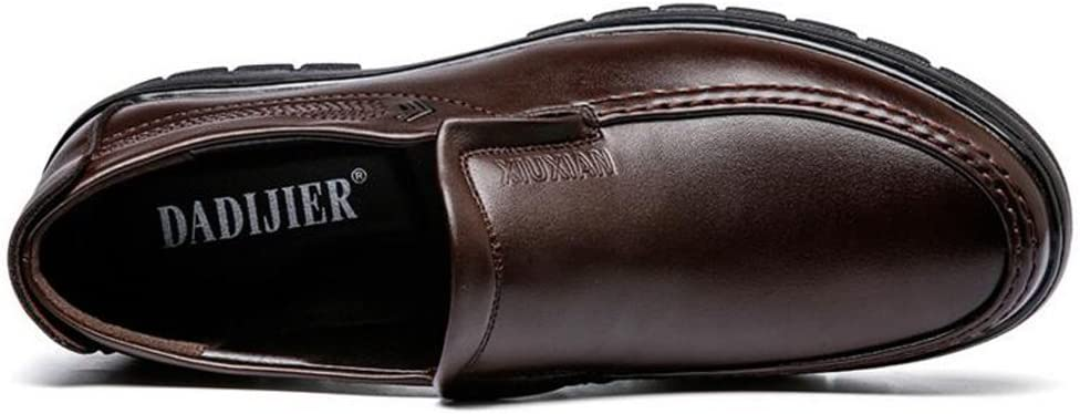 Mens Leather Shoes PU Comfortable Handsome Loafers Soft Sole Flats for Gentlemen,Very Stylish Color : Brown, Size : 7.5 M US