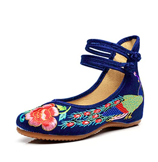 Zapatillas estilo ante suave con plataforma 2 cm - Azul, 39 EU
