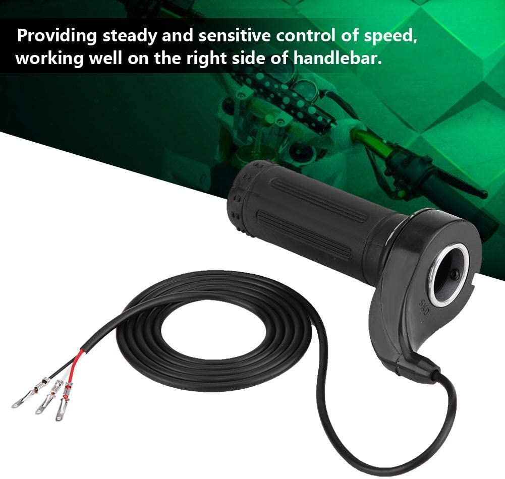 Hlyjoon Motorcycle Accelerator Electric Scooter Twist Speed Throttle Grip with 3 Wires Modification Accessory Motorcycle Accessory Fits for Universal