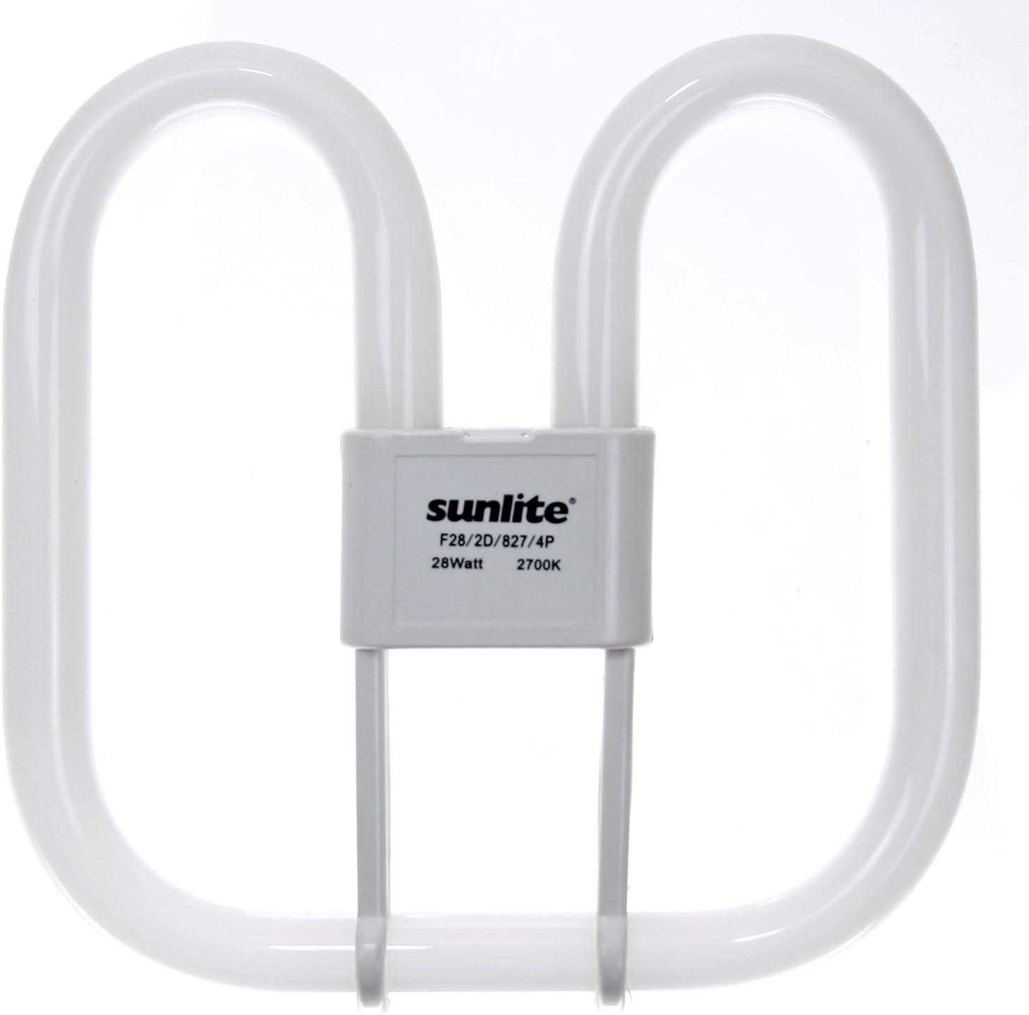 Sunlite F38/2D/835/4P 38-Watt 2D Linear Fluorescent Light Bulb GR10q Base, 3500K