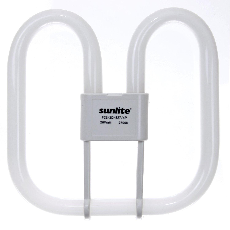 Sunlite F28 2D 835 4P 28 Watt 2D Linear Fluorescent Light Bulb GR10q Base 3500K