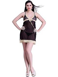 Miss Pixy Women s Solid Gold Nighty Poly Satin Cozy Sleepwear Dress 362915850