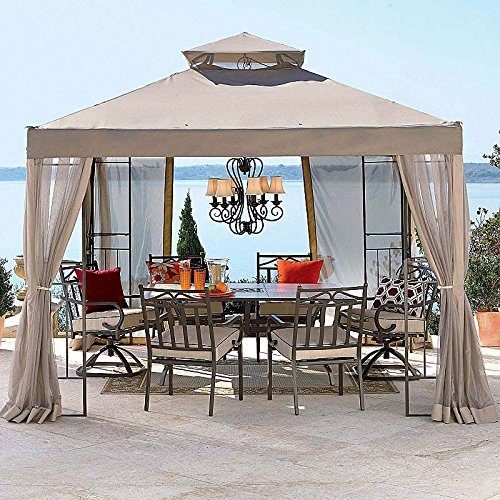 OPEN BOX Replacement Canopy Top Cover for JCPenney's 2010 10×10 Outdoor Oasis Gazebo For Sale