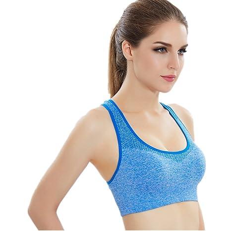 Comfort Bra Mujeres Niñas Sujetador de Yoga Summer Sling Seamless Sports Underwear Ladies a Prueba de