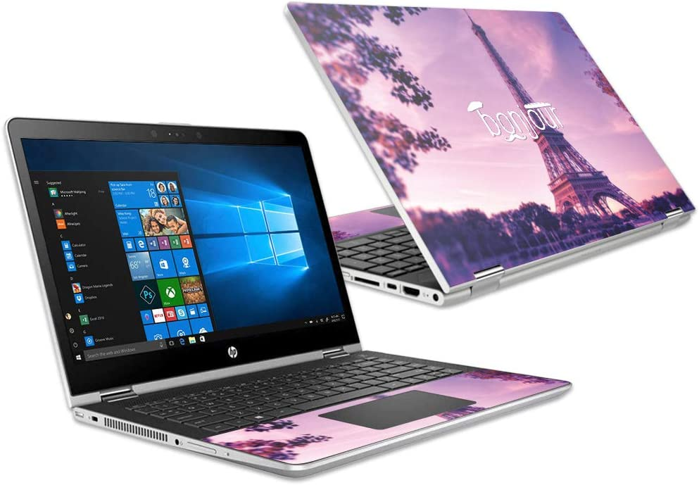 """MightySkins Skin Compatible with HP Pavilion x360 15.6"""" (2018) - Bonjour 