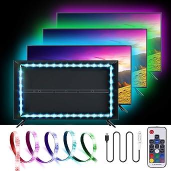 LED TV Hintergrundbeleuchtung, SOLMORE USB LED Strip 2M Streifen LED Band  Rgb Lichter Lichterkette Leiste USB Verbindung Für TV Küchenschrank  Wandschrank ...
