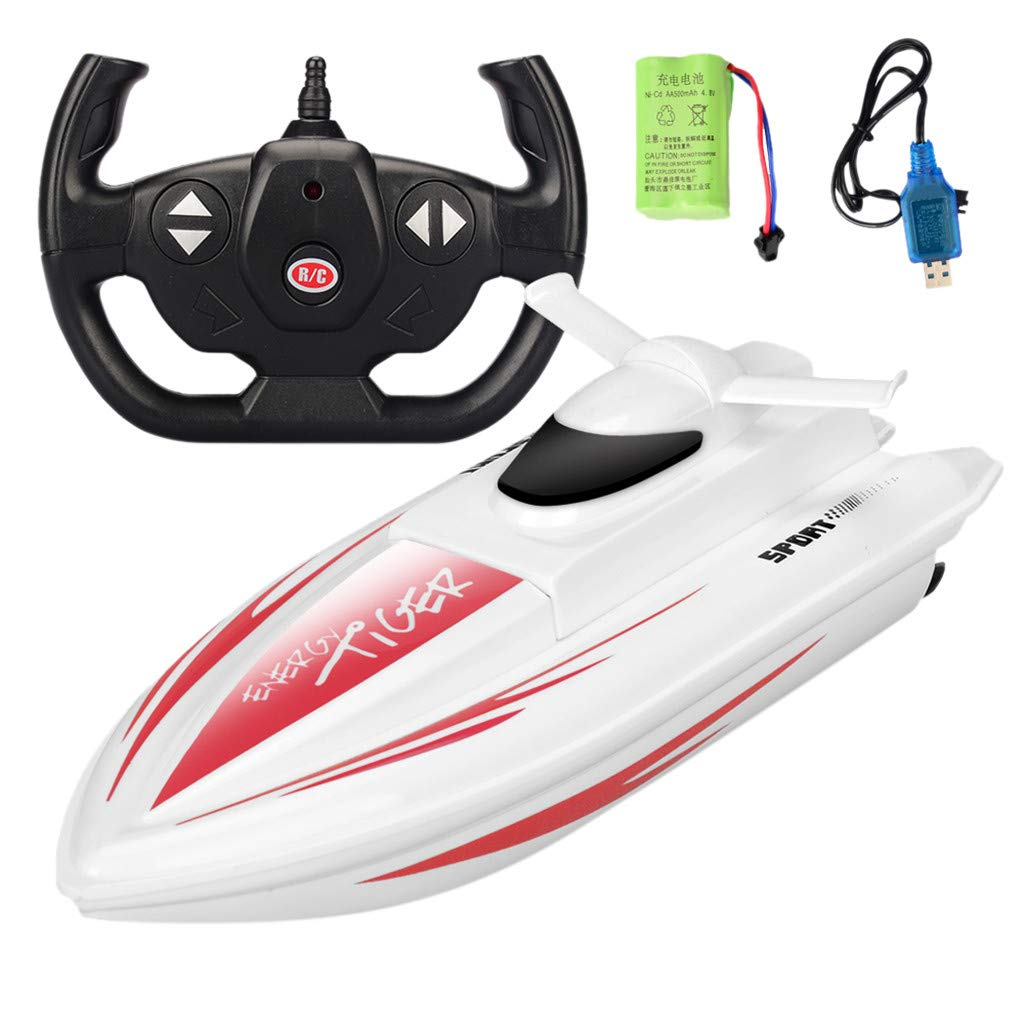 Sonmer 1:16 Fast Shipping Racing Boat for Kids, Up To 20km/h, 2.4G Remote Control (Red)