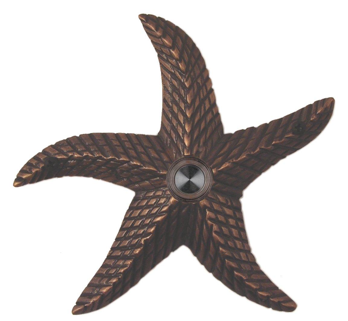 Waterwood Brass Starfish Doorbell in Oil Rubbed Bronze