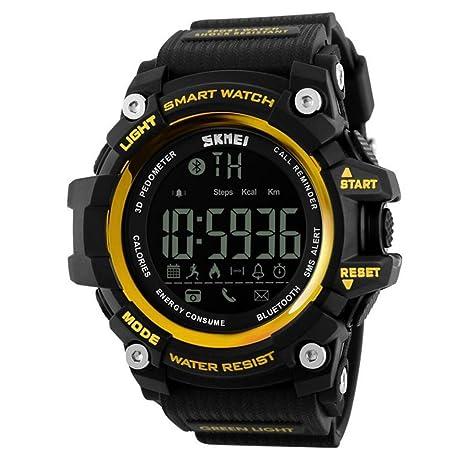 Hombres Smart reloj digital Relojes de pulsera las mujeres relojes deportivos recordatorio de llamadas con Control