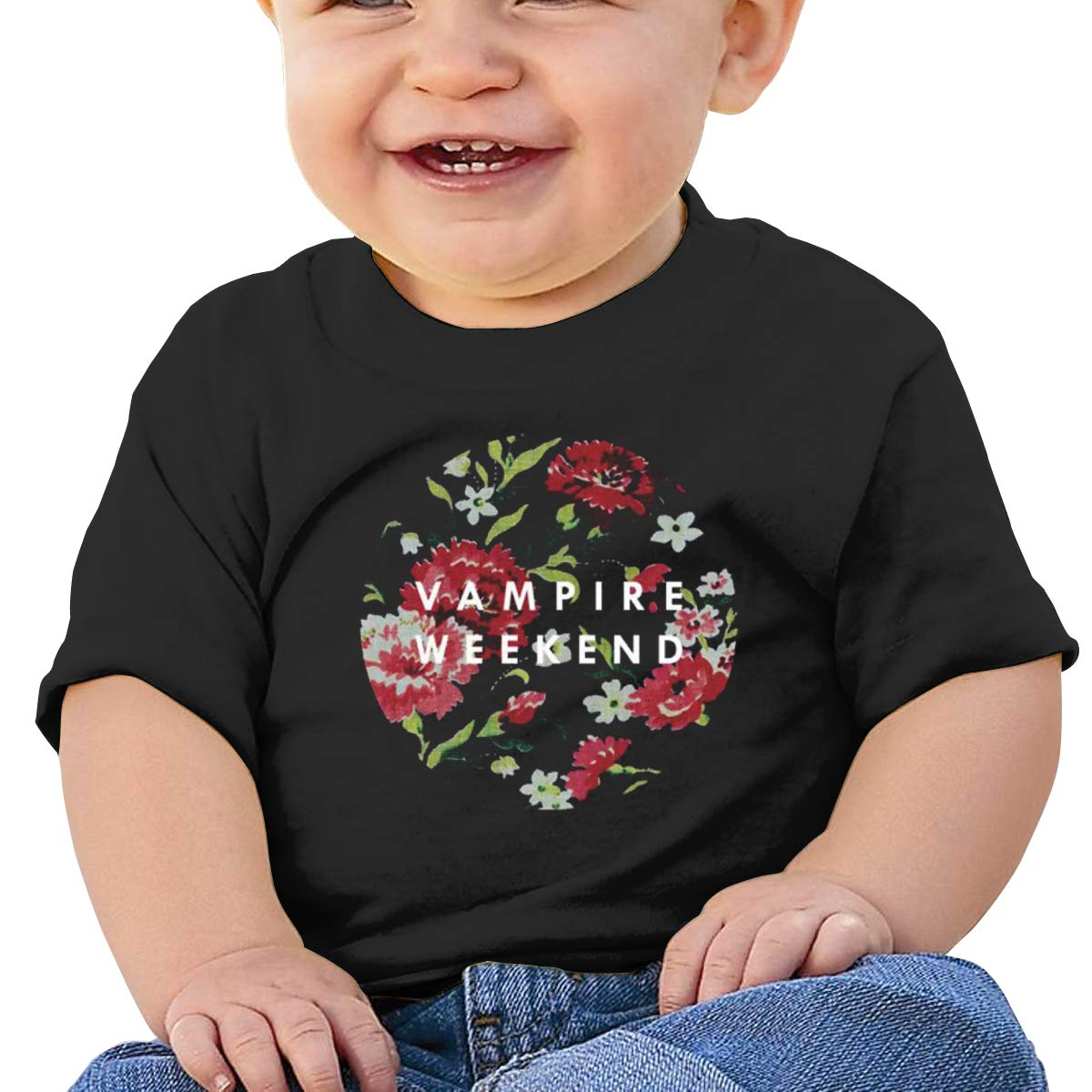 MONIKAL Unisex Infant Short Sleeve T-Shirt Vampire-Weekend Toddler Kids Organic Cotton Graphic Tee Tops
