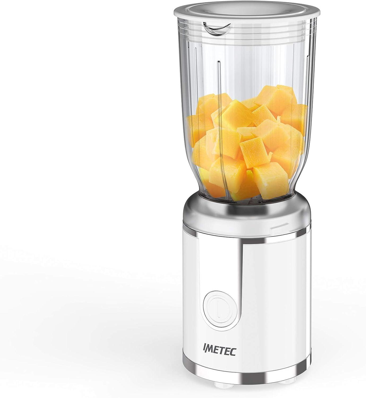 Imetec Bl3 300 - Batidora compacta, vaso de plástico sin BPA, capacidad 700 ml, tapa dosificadora líquida, 250 W